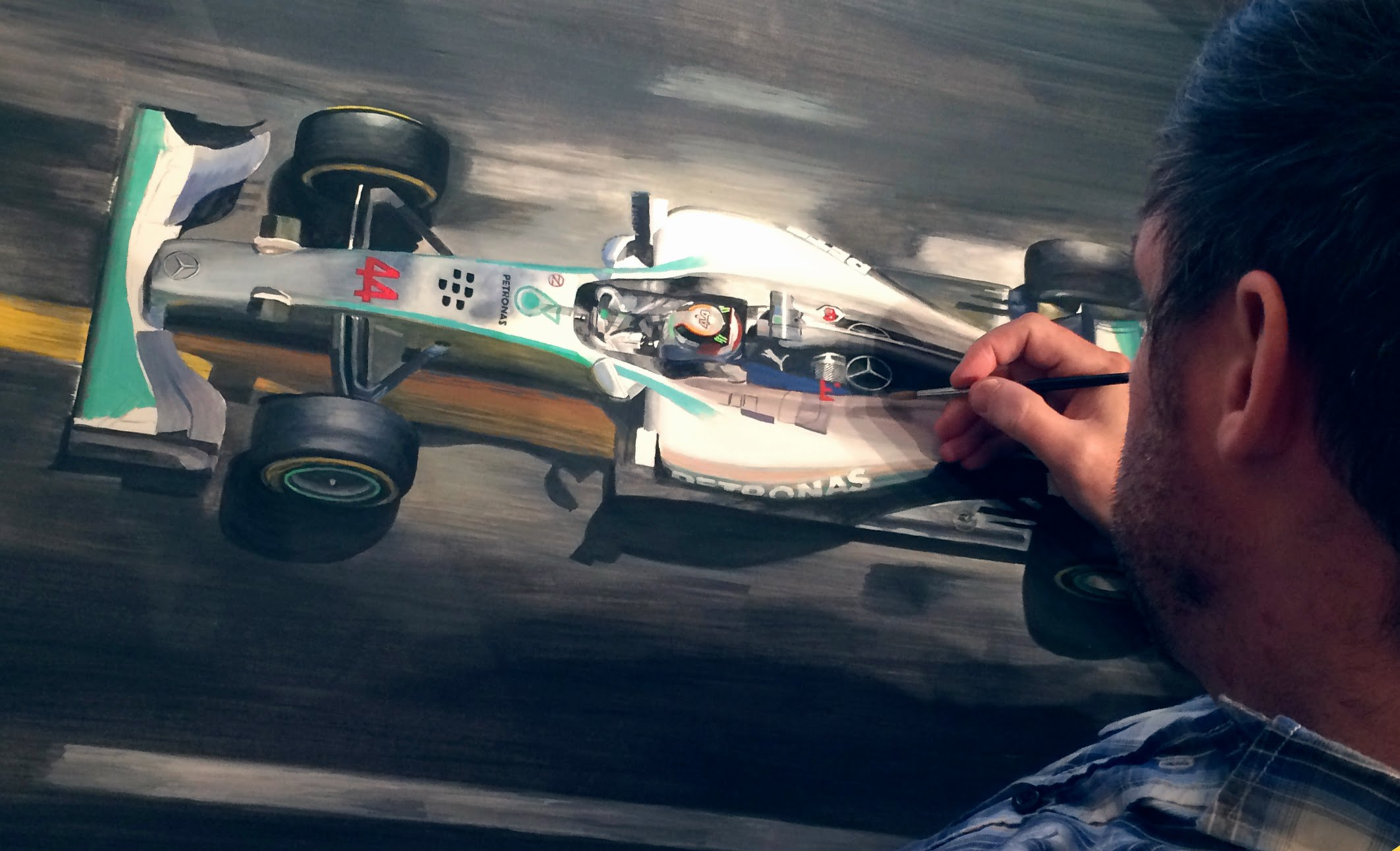 Tony Regan Mercedes F1 Art