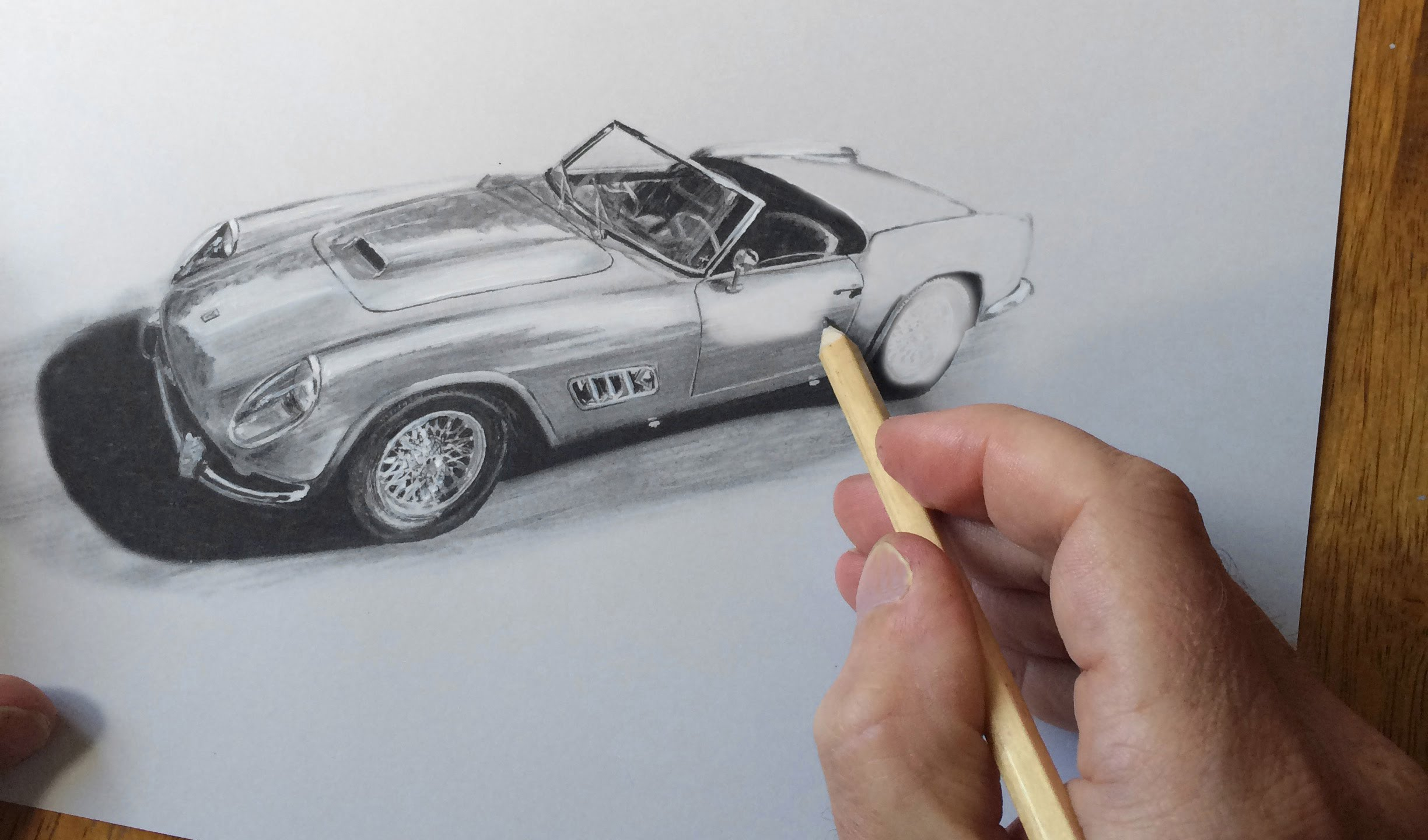 Ferrari 250 GTO drawing by Tony Regan