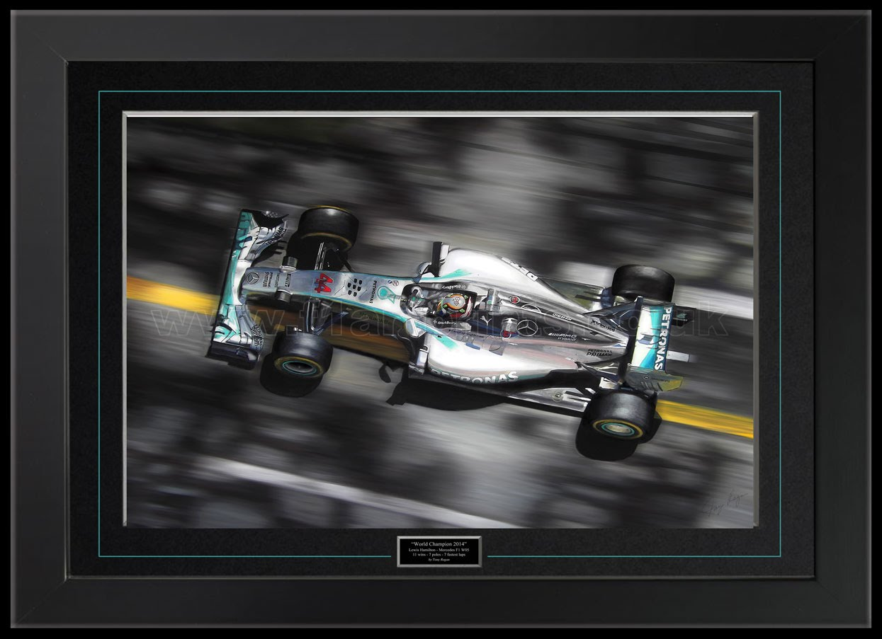 Lewis Hamilton Champion 2014 Original Painting