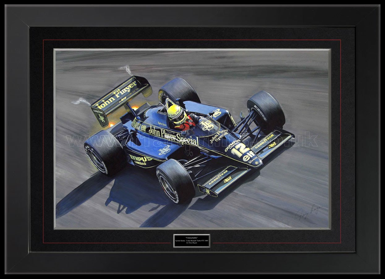 Ayrton Senna Lotus Original Painting