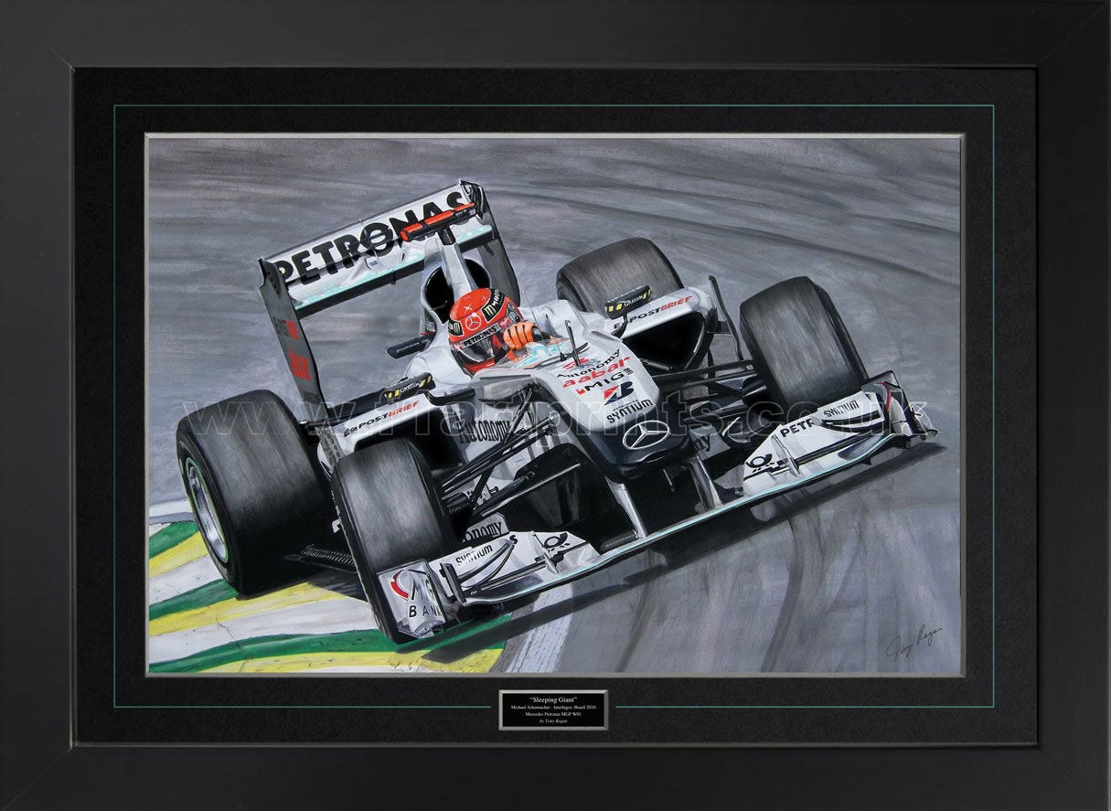 Michael Schumacher Mercedes F1 Original Painting