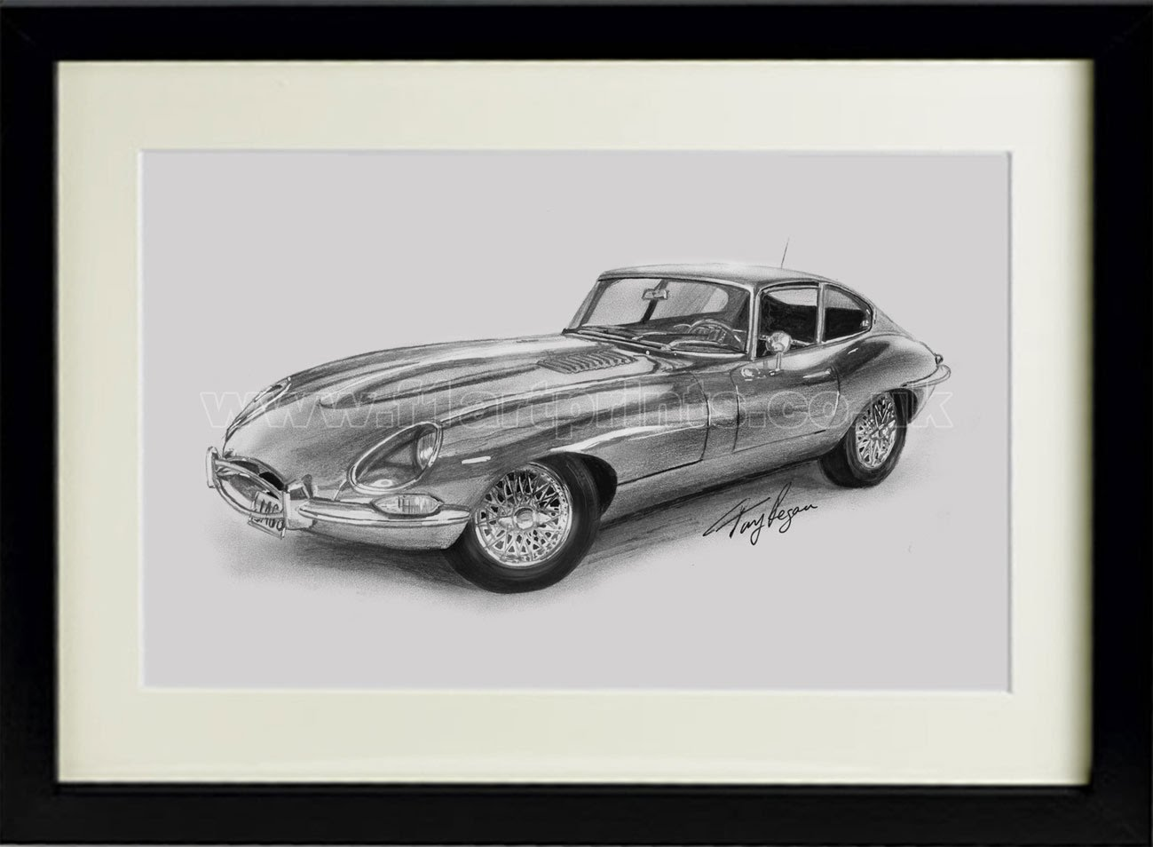 E-Type-Jaguar-drawing