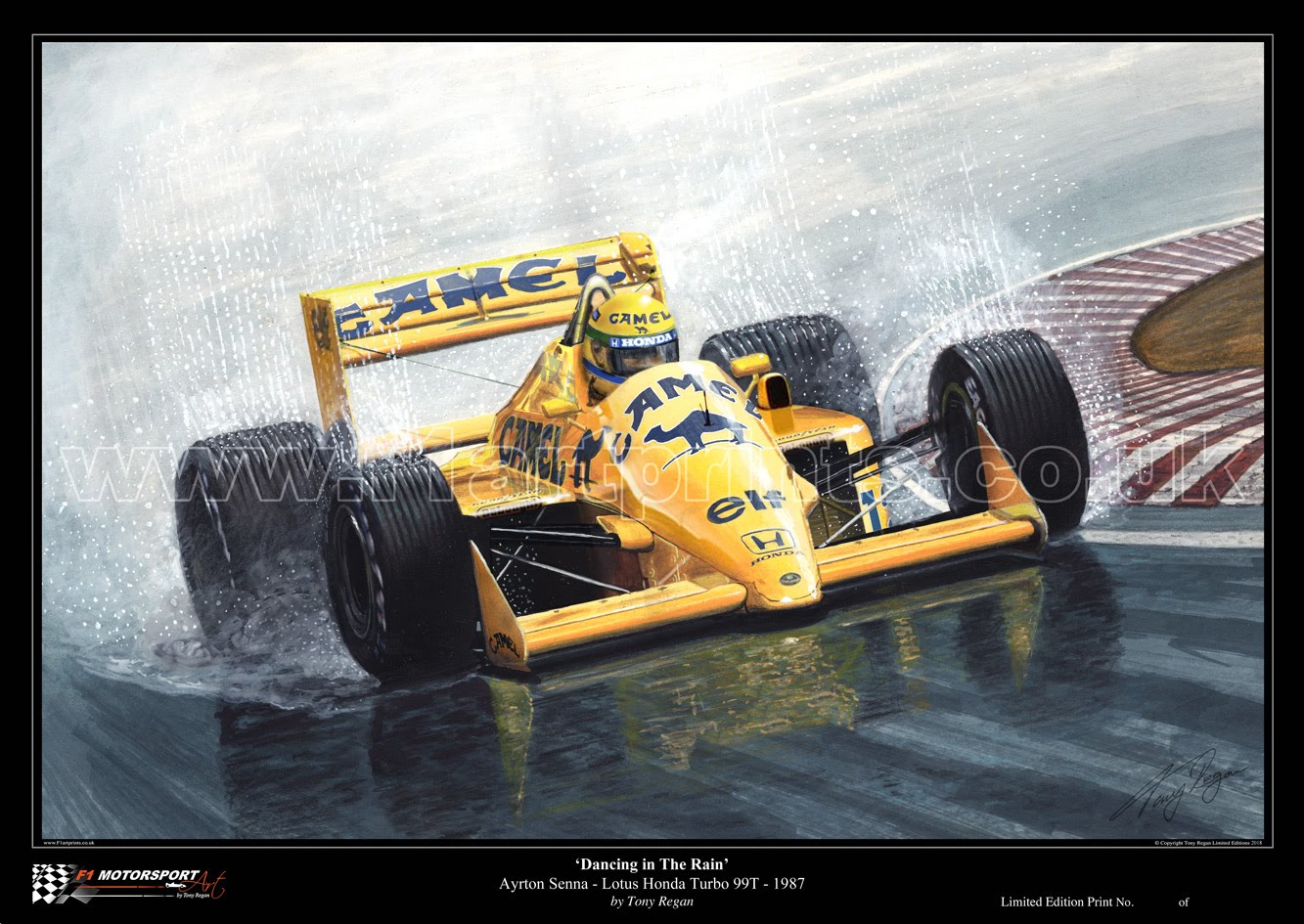 Senna Camel Lotus Turbo 1987 Art