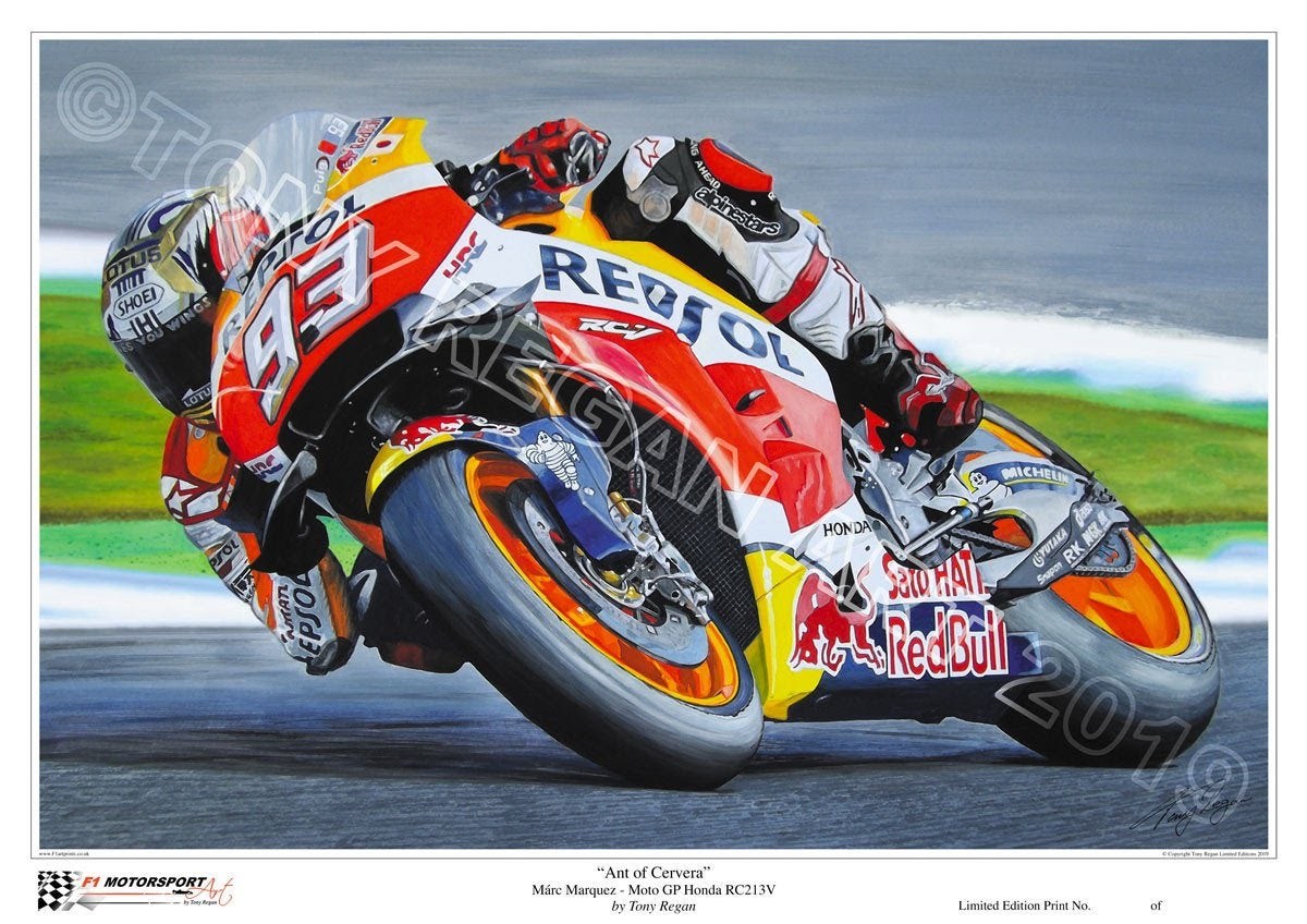 Marc Marquez MotoGP Honda Limited Edition Art Print